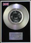 "THE SEEKERS - 7"" Platinum Disc - THE CARNIVAL IS OVER"